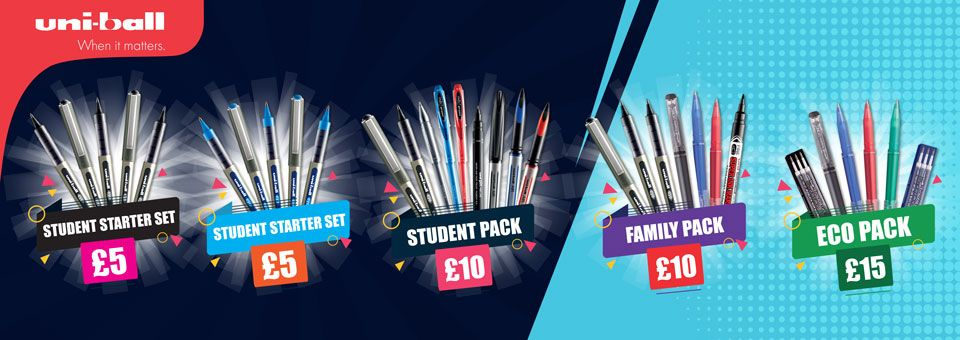 Uni-ball Back to School pen deals