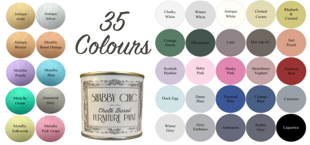 shabby chic chalk paint 20 colours