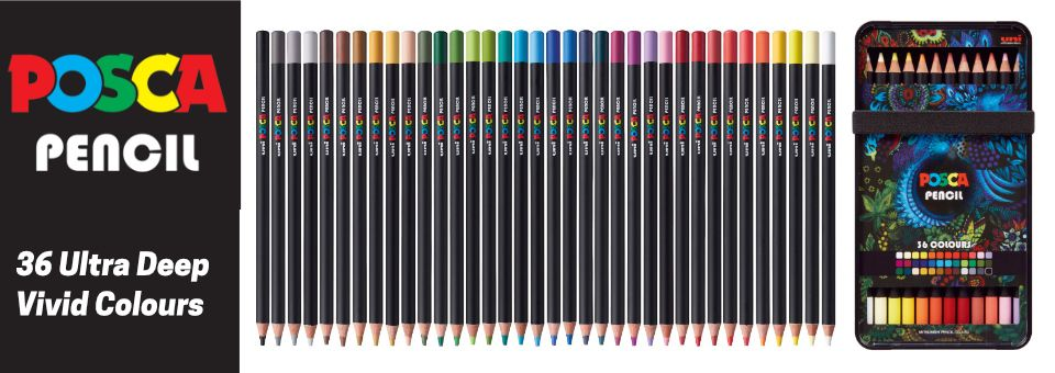 Posca Coloured Pencils